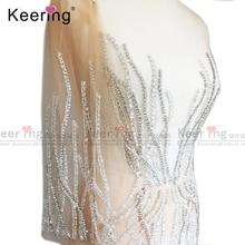 فستان سهرة موضة حجم كبير بقع حجر الراين يدوية الصنع WDP 035