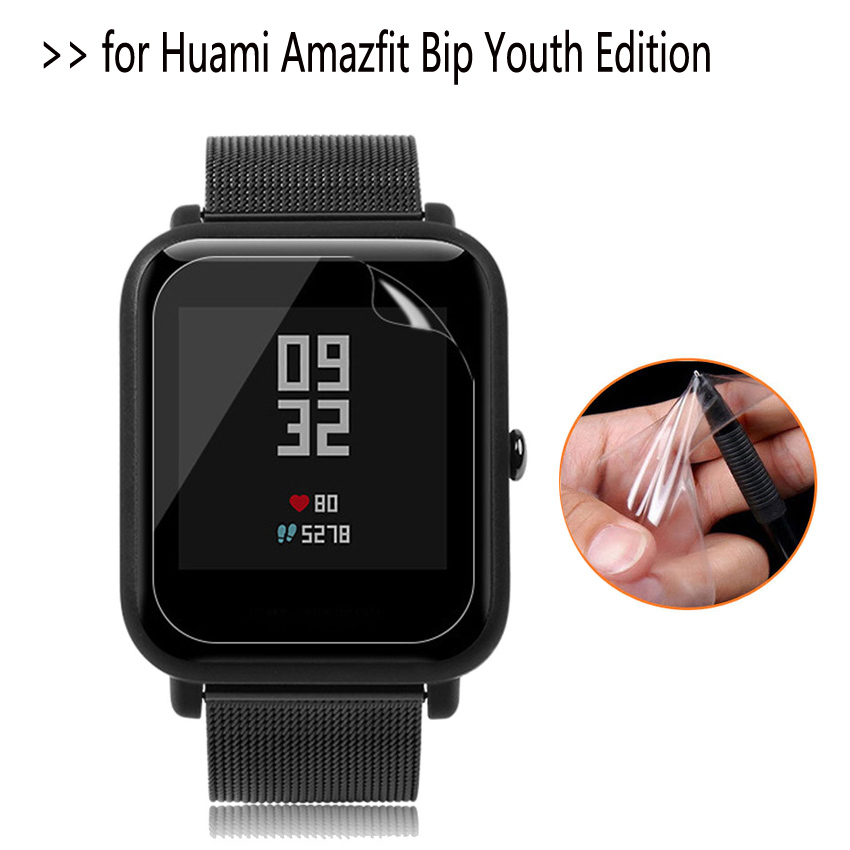 Protective-Film Smart-Watch Huami Amazfit Xiaomi Clear 1pcs for Bip Youth-Edition Soft-Ultra