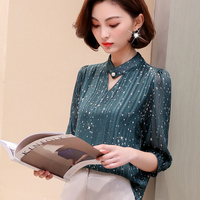 G448065 New Chiffon Shirt Female Sleeves 2019 Spring and Summer New Women's Shirt Tops