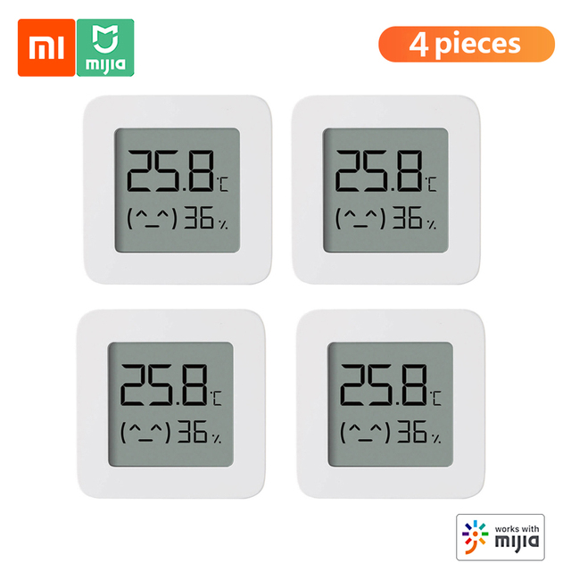 Hot Xiaomi Mijia Bluetooth Digital Thermometer 2 Wireless Smart Electric Digital Hygrometer Humidity Sensor Work With Mijia APP 1