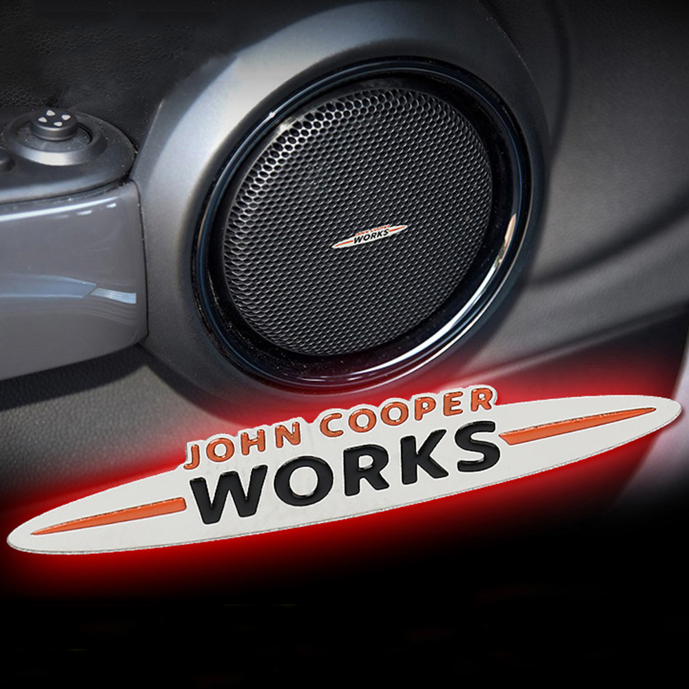 John Cooper Works Stickers Decals Metal Decoration For Mini Cooper JCW S R55 R56 R61 Paceman F54 F55 F60 Countryman Accessories