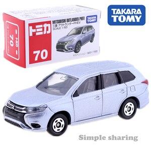 Tomica No.70 Mitsubishi Outlander PHEV 1/63 Takara Tomy Diecast Metal Car In Toy Vehicle Model Kids Collection Gift(China)