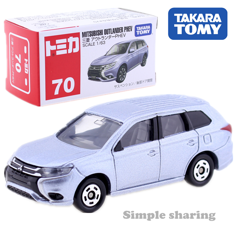 Tomica No.70 Mitsubishi Outlander PHEV 1:63  Takara Tomy Diecast Metal Car In Toy Vehicle Model Kids Toys Collection Gift