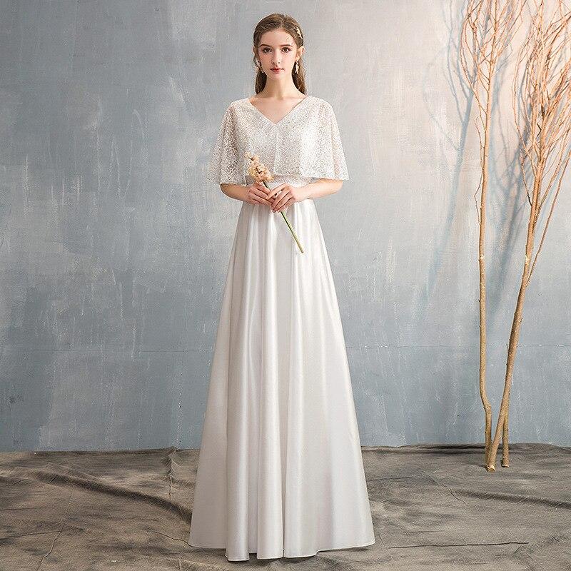Chorus Formal Dress Women's Late Formal Dress Elegant Long Off-Shoulder Piao Xiu V-neck Host Formal Dress Performance