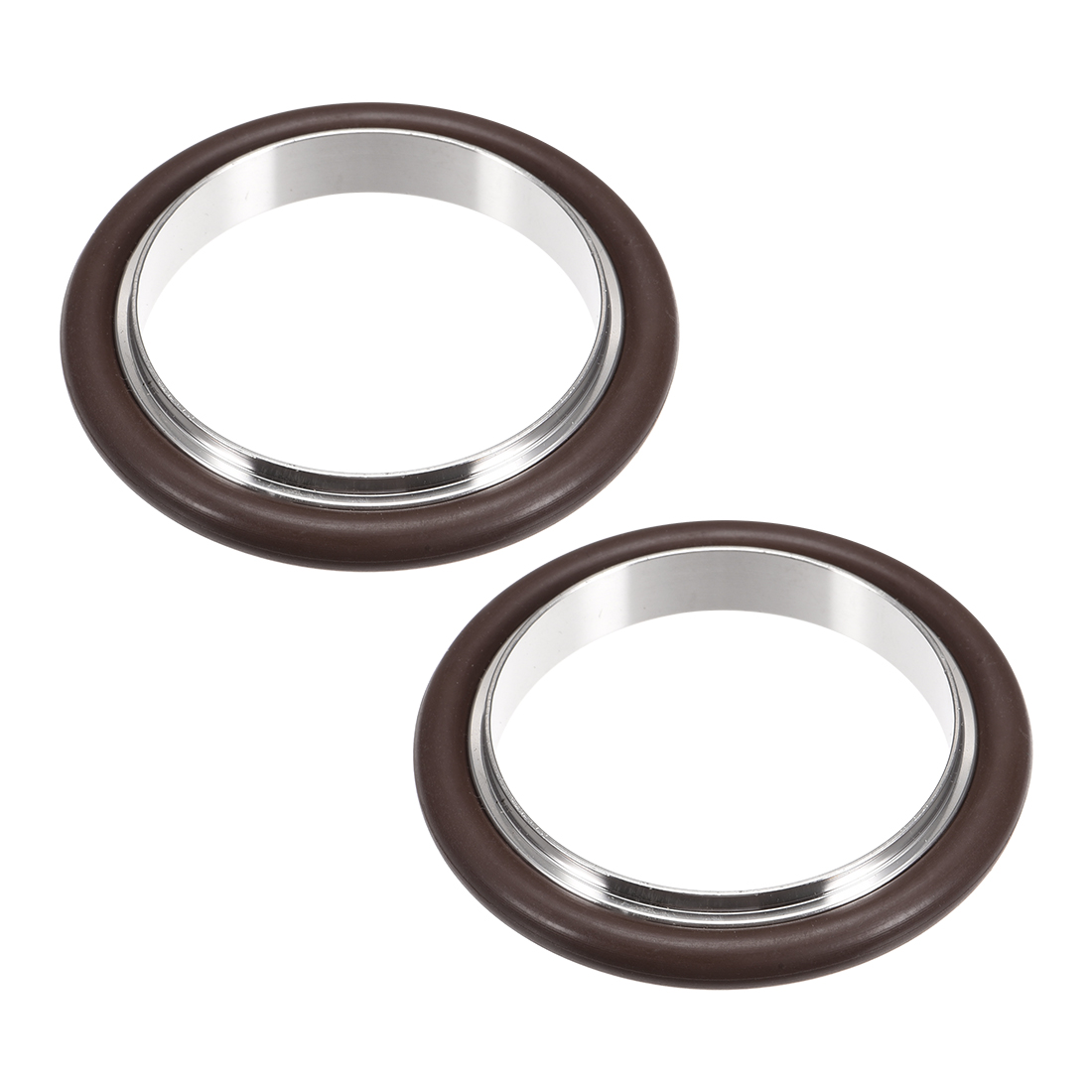 uxcell 2 Pcs Centering Ring KF-16 Vacuum Fittings ISO-KF Flange 53mm x 39.7mm Fluororubber O-Ring