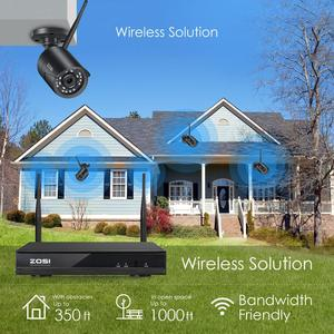 Image 2 - ZOSI H.265 1080P 8CH CCTV система видеонаблюдения беспроводная WIFI IP наружная камера NVR комплект HDD Удаленный просмотр в ПК монитор
