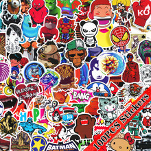 100Pcs Marvel Sticker Cartoon Sticker Waterproof for Laptop Moto Skateboard Luggage Guitar Furnitur Decal Toy Stickers 2000 pcs classic style children stickers funny fashion anime sticker toys vinyl waterproof decal toy luggage laptop sticker