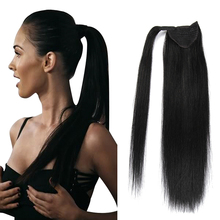 ALI-BEAUTY Human Hair Ponytail Remy Hairpiece Magic Wrap Around Clip In Ponytail Russia Straight Human Hair Tail