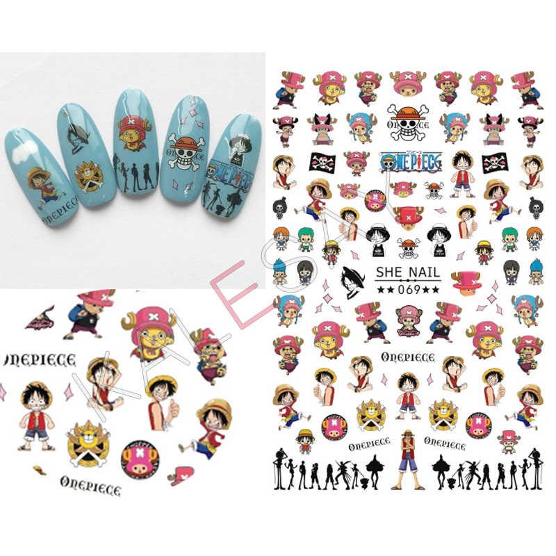 Jepang Kartun Kuku Seni Stiker untuk Manikur Desain Set Stiker Kuku Belakang Lem Kuku Perekat Stiker untuk Kuku Foil stiker