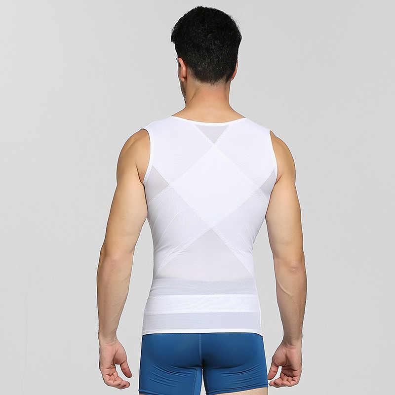 Débardeur modelant la taille pour hommes, hauts d'entraînement pour le ventre, ceinture amincissante, Corset, ceinture, gilet sous-maillot