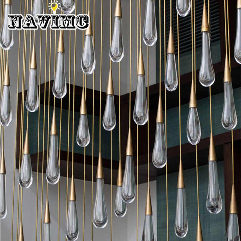 Золотой каплевидный кристалл подвесной светильник креативный Европейский стиль роскошный Светодиодный светильник DIY Подвесная лампа модный домашний легий