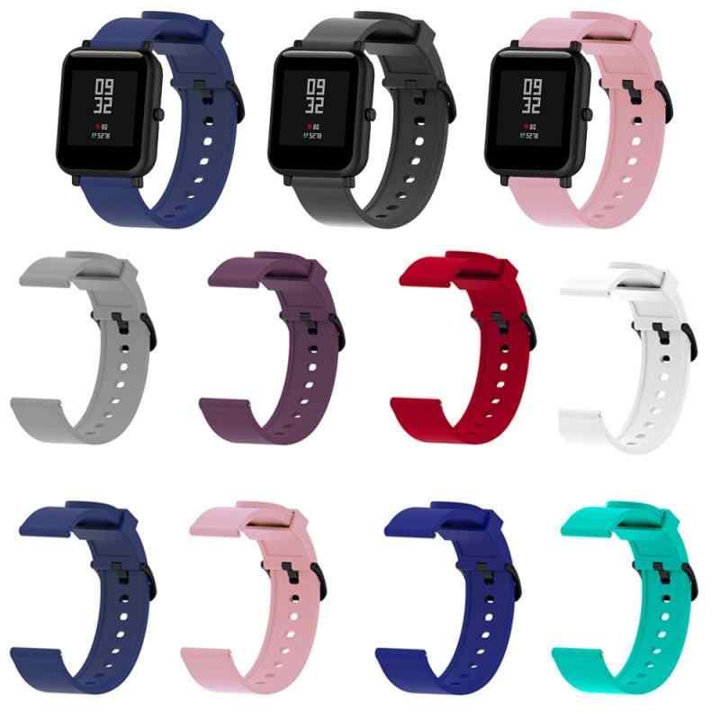 9 色シリコンブレスレットxiaomi huami amazfit bipビットritmo liteユース 22 ミリメートルスマート腕時計スポーツストラップリストバンドブレスレットTXTB1