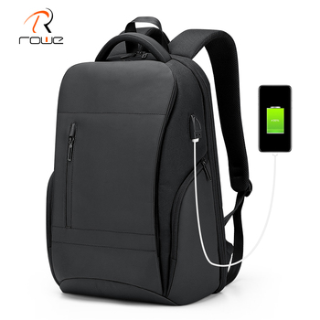 Rowe Men Backpack Multifunctional Waterproof 15.6 Inch Laptop Backpack Large Capacity USB Charging Business Travel Backpacks Bag frn business usb charging bag men 17 inch laptop backpack waterproof high capacity mochila antitheft casual travel backpack bag