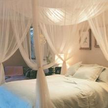 4 narożna słupkowa moskitiera baldachim siatki sypialnia wiszące łóżko Valance zasłony tanie tanio Cztery drzwi Uniwersalny Czworoboczny 4 Corner Post Bed Canopy Mosquito Net Dorosłych 100 poliester 4 Corner Post Mosquito Net bed Netting Travel