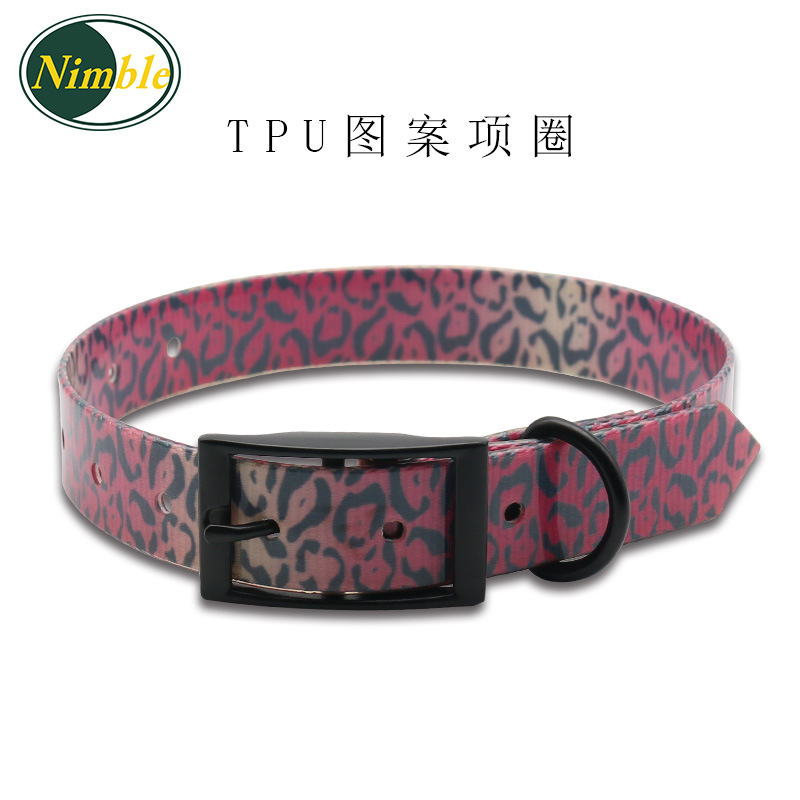 TPU Waterproof Pet Collar Deodorizing Dog Collar Pattern Pet Collar