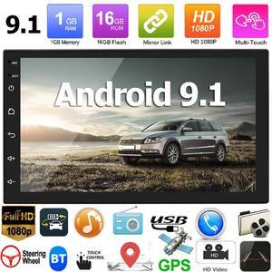 7168 Upgraded 2 din Android 9.1 Car Radio GPS Navi WiFi Bluetooth Autoradio Central Multimedia Player FM USB Head Unit