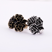 New fashion alloy material women's jewelry rose shape ring party supplies(China)