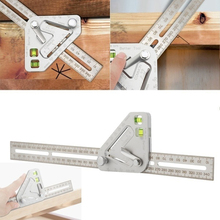 Multi-function angle ruler triangle woodworking combination square ruler woodworking tools 300mm 12 right angle ruler adjustable engineer combination try square set horizontal ruler angle for woodworking tools