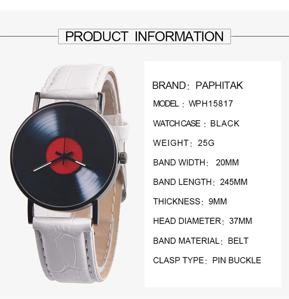 H637685aaf21744c6b93e8e40921959eae 2020 Fasion Men's Watch Neutral Watch Retro Design Brand Analog Vinyl Record Men Women Quartz Alloy Watch Gift Female Clock NEW