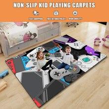Gamepad Gedruckt Teppiche Cartoon Kid Playing Teppich Nicht-slip Teppiche für Wohnzimmer Schlafzimmer Drop Verschiffen 200x300cm alfombras