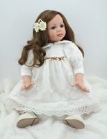 Silicone Reborn Baby Princess Dolls 60cm Toddler Vinyl Simulated Doll Reborn Christmas Gifts Cotton Body Babies Alive Brinquedos