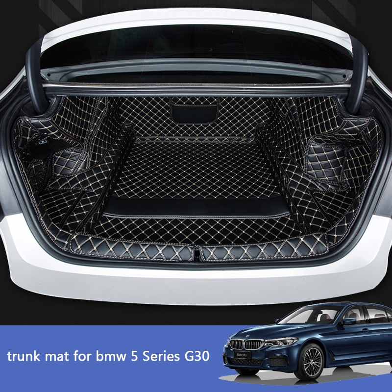 Lsrtw2017 Leather Car Trunk Mat Cargo Liner For Bmw G30 2018 2019 2020 520 530 525 540 535 Boot Luggage Rear Rug Carpet 5 Series