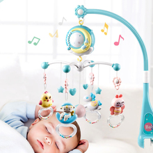 0-18 Months Musical Box Baby Rattles Mobiles Bed Bell Toys Musical 0-12 Months Projection Cartoon Early Learning Baby Kids Toy все цены