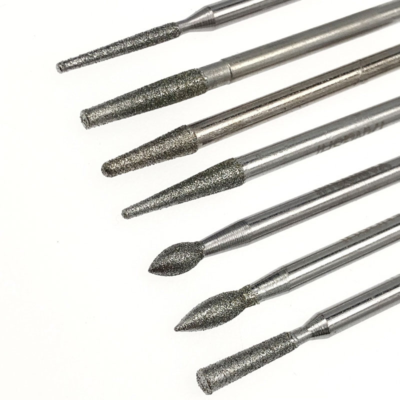 28pcs 7 Sizes Jade Carving Polishing Tools Diamond Grinding Needle Electric Mill Jewelry Mold Dressing Glass Edge Polishing