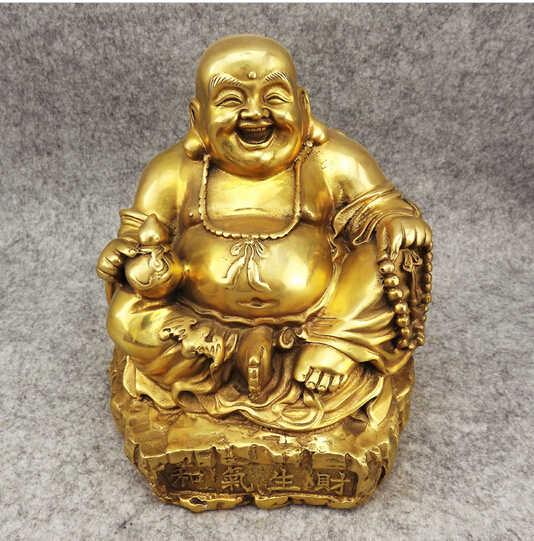 --- 417 + + + Tua Perunggu Antik Seni & Kerajinan Besar Tembaga Buddha Dekorasi Kualitas Komersial Buka Hadiah Beruntung