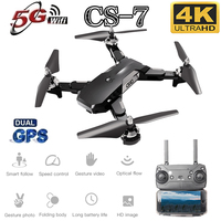 New CS7 GPS Drone With 4K Dual Camera Wifi Fpv Foldable Quadcopter Support 5G Frequency Highly Stable Hover RC Drone Toy