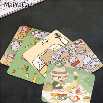 MaiYaCa Your Own Mats Cute Cartoon Girl Gamer Speed Mice Retail Small Rubber Mousepad Top Selling Wholesale Gaming Pad mouse