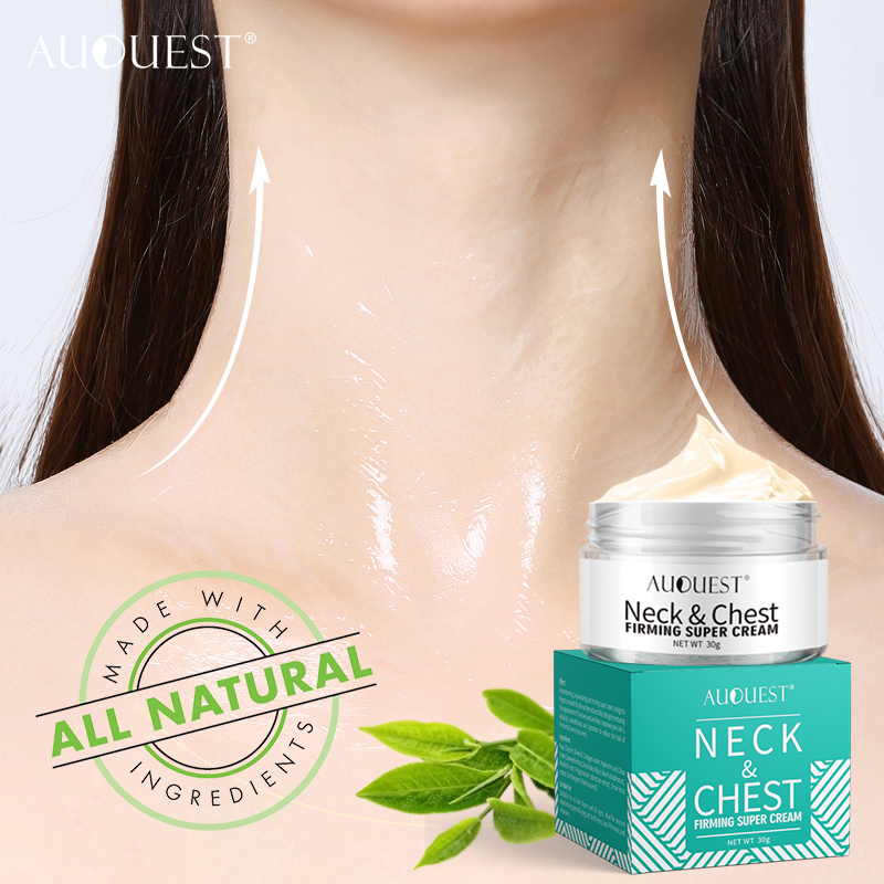 AuQuest Neck And Chest Cream Dry Crepe Skin Repair Firming Super Cream Anti Aging Lifting Hyaluronic Acid Essential Skin Care