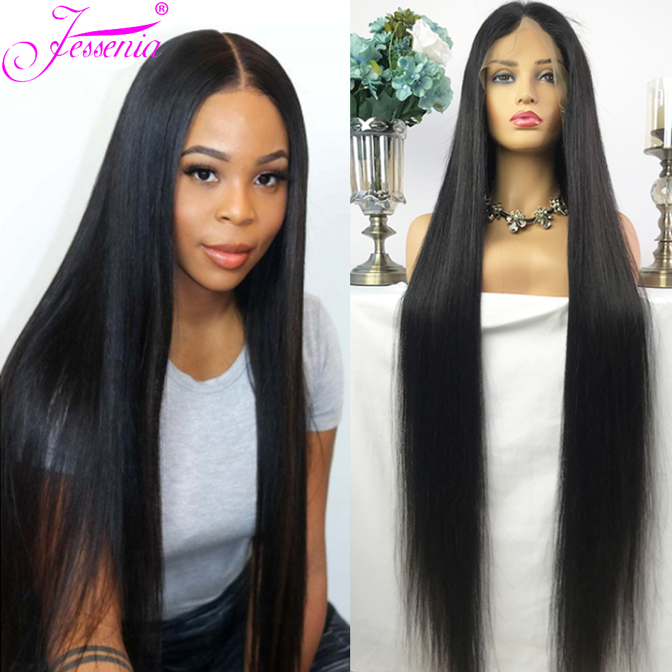 Lace Front Human Hair Wigs Straight Pre Plucked Hairline Baby Hair 10-32Inch 13x4 150% Malaysian Remy Human Hair Lace Front Wigs