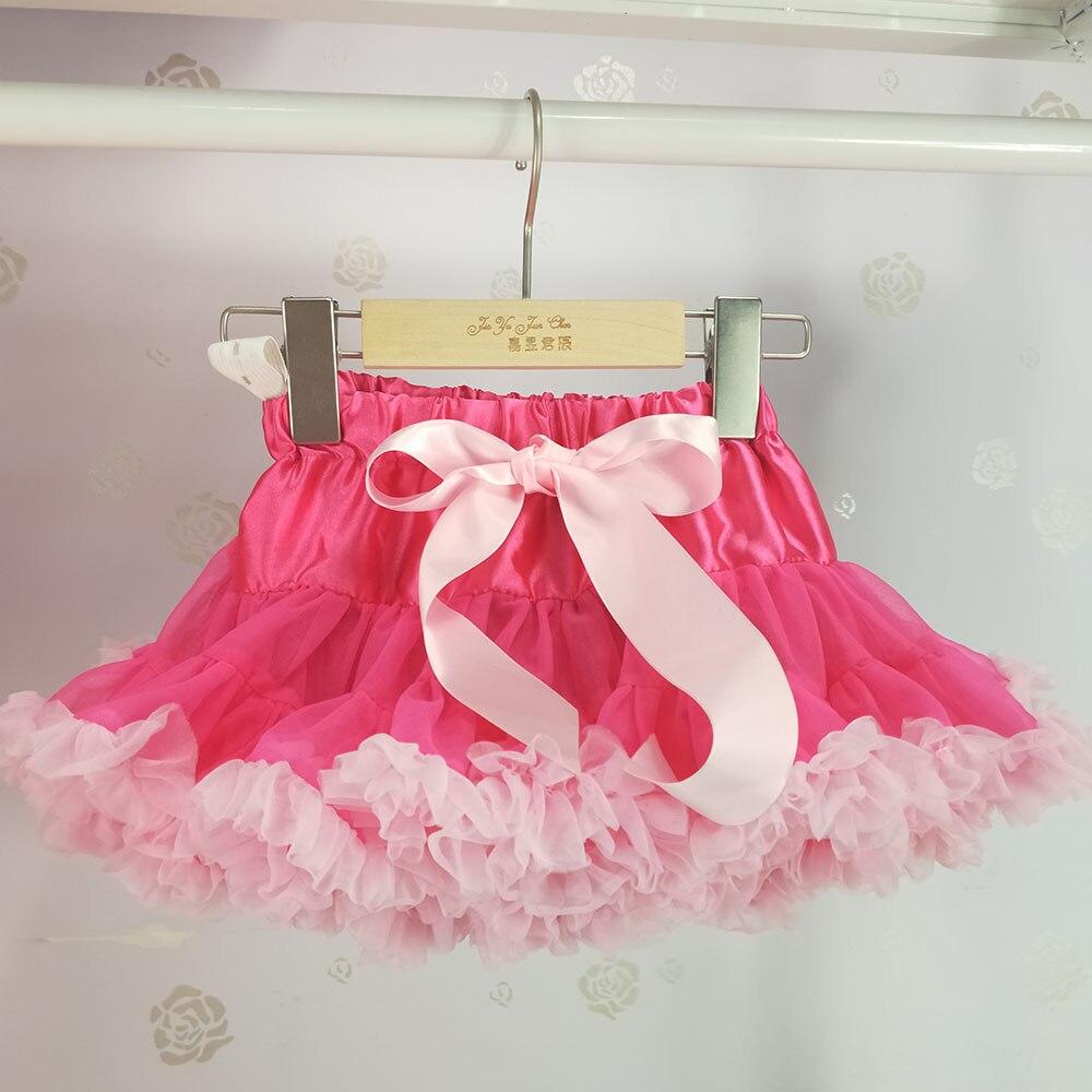Детская юбка-пачка для девочек; пышная юбка-американка; распродажа - Цвет: Розово-красный