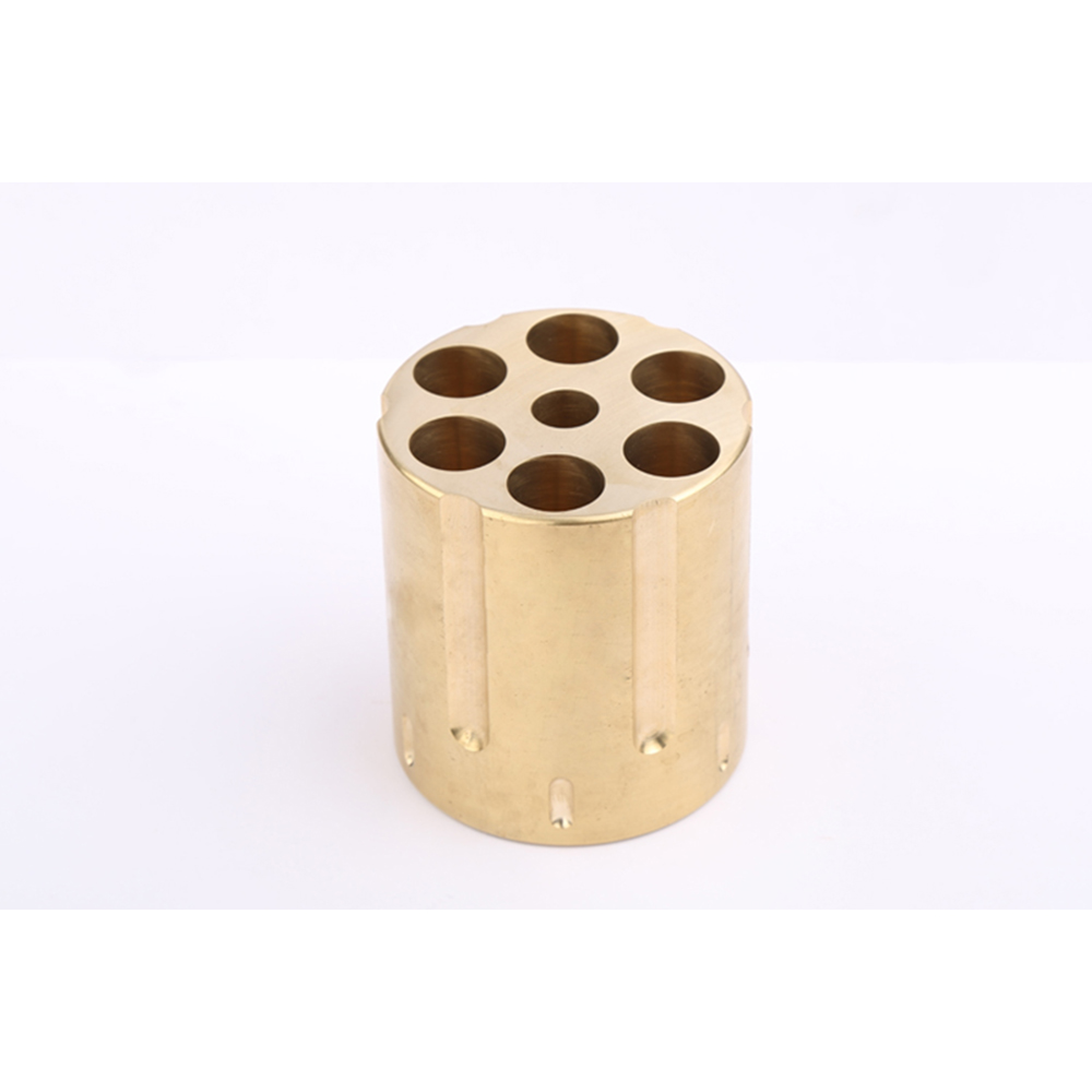Creative Revovler Style Pen Holder Desk Stationery Organizer 7 Hole Brass Pen Case For Office Accessories House Supplies1.8kg