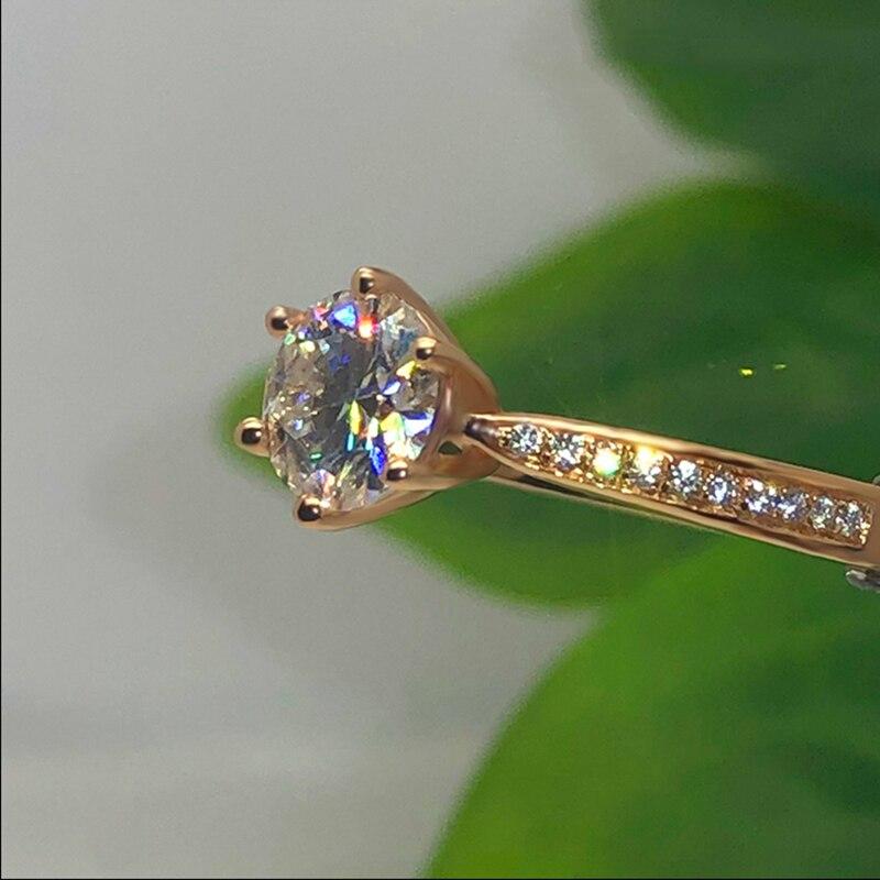 14K or Rose Moissanite anneau 1ct 2ct 3ct excellente coupe vvs moissanite bijoux à la mode mariage Engagemen anniversaire anneau - 2