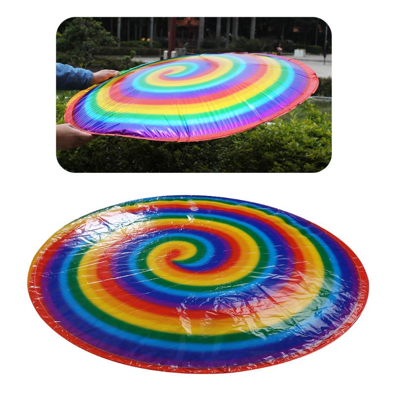Magic Flying UFO Spinning Spiral Gyroscope Toys Balloons Air Hover Family Game Q6PD
