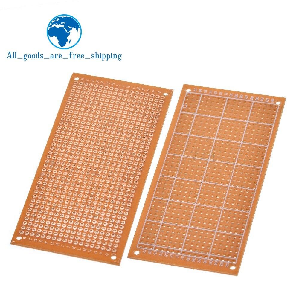 Simple côté en gros universel 5x10cm sans soudure PCB Test platine de prototypage cuivre Prototype papier étamé plaque Joint trous bricolage