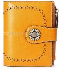 Модный женский кошелек из натуральной кожи с цветами высококачественный