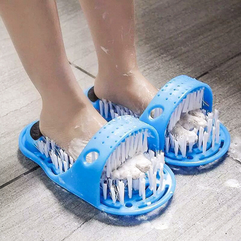 1 pair Plastic Bath Shower Feet Massage Slippers Bath Shoes Brush Pumice  Foot Scrubber Spa Shower Remove Dead Skin Foot  Tool