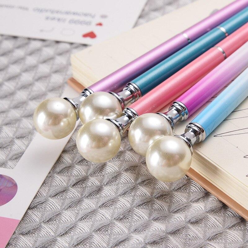 9 Colors Big Pearl Metal Ballpoint Pens 2
