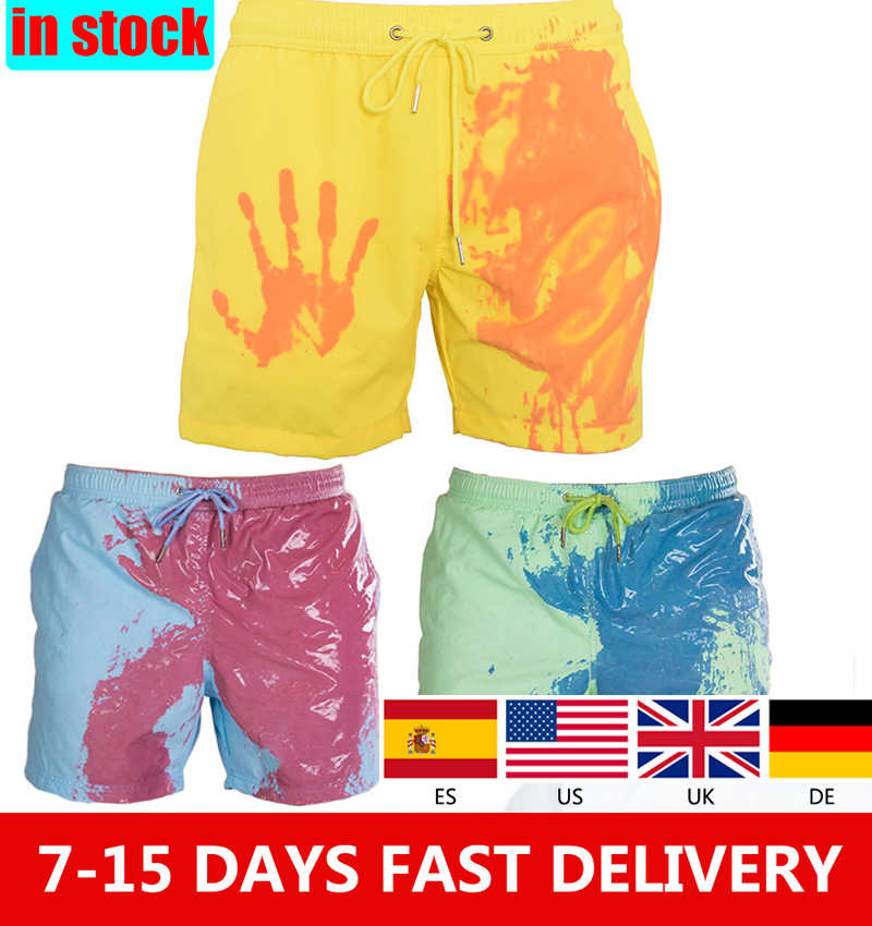 1DayShip incroyable couleur changeante maillot de bain maillot de bain maillot de bain Slip hommes Shorts de natation pour hommes plage nager hommes slips Sexy Gay