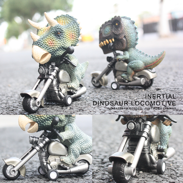 Children Competitive Games Simulation Dinosaur Motorcycle Model Kids Toys 2