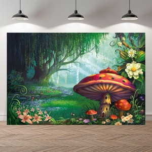 Image 2 - NeoBack Vinyl Enchanted Magic Forest Mushroom Baby Fairy Tale Land Princess Birthday Photocall Banner Photography Backgrounds