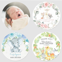 100 Personalized Christening Baby Shower Sticker Party Decoration Gender Reveal First Communion Boy Girl Baptism Packing Lables