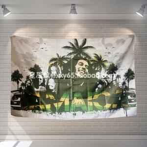 Настенный плакат ПОП-группы «Боб Марли реггае», тканевые флаги, подвесные картины, тема для зала, биллиарда, домашнего декора