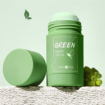 Acne Clearing Solid Mask Green Tea Oil Control Moisturizing Cleaning Mask Stick Blackhead Remove Fine Pores Purifying Mask TSLM2 1