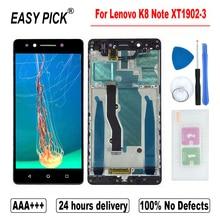 """レノボK8 注XT1902 3 XT1902 2 lcdディスプレイタッチスクリーンデジタイザアセンブリの交換無料ツール 5.5 """"インチaaa + + + 品質"""
