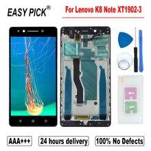 Для Lenovo K8 Note XT1902 3 LCD дисплей сенсорный экран дигитайзер в сборе запасные бесплатные инструменты 5,5 дюйма AAA +++ качество