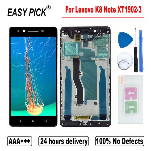 """Voor Lenovo K8 Note XT1902 3 XT1902 2 Lcd Touch Screen Digitizer Vergadering Vervanging Gratis Tools 5.5 """"Inch Aaa + + + kwaliteit"""